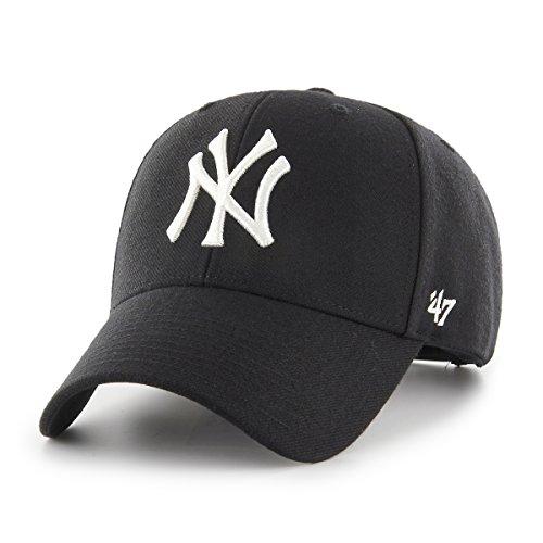 47Brand MVP Snapback NY Yankees MVPSP17WBP-BK Schwarz Weiß, Size:ONE Size (47brand Snapback)