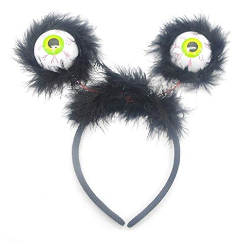 Yinew Horror Blinkendes Stirnband Glowing Horror Stirnband Blinkende Tricky Hoop Alien - Nette Horror-halloween-kostüme
