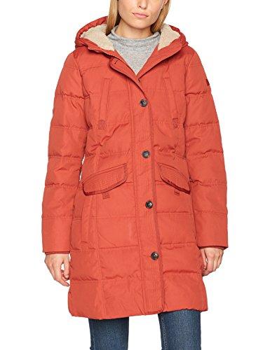 ESPRIT Damen Mantel 097EE1G020, Orange (Terracotta 805), Large