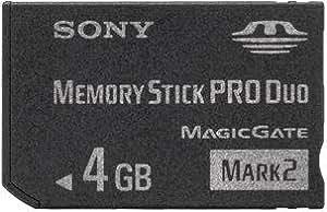 4GB Sony - Memory Stick Pro Duo Mark2 Speicherkarte inkl. Adapter