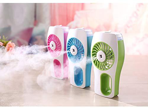 LWPCP USB Mini Beauty Spray Fan Feuchtigkeitsspendende Luftbefeuchter Tragbare Wiederaufladbare Fan(2PCS) (Wiederaufladbare Fan)