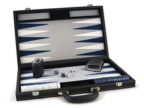 Smir - 529421 - Echecs - Backgammon façon cuir noir intérieur