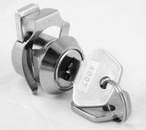 FJM Security MEI-3756-KA Deadbolt Keyed Alike Clip Lock with Chrome Finish, Keyed Alike