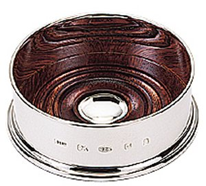 Solid Silver Wine Coaster / Bottle Coaster Plain (3.5 inch)