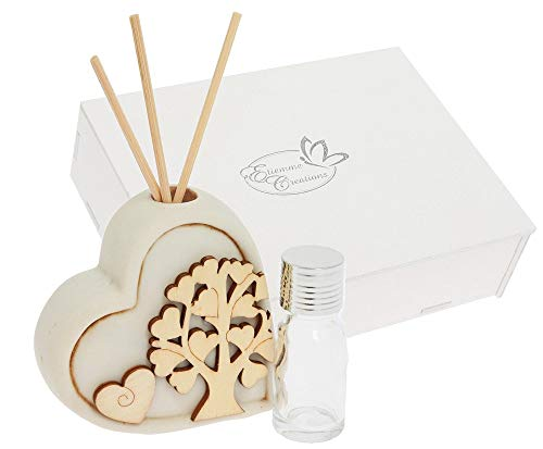Subito disponibile natura profumatore cuore resina scatola regalo legno bomboniera