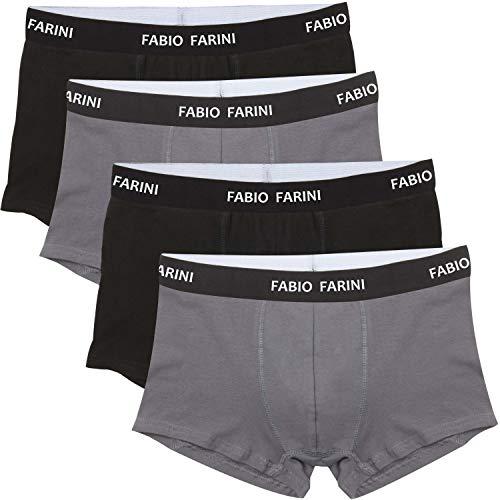 e5462a540c Fabio Farini 4er Pack Boxershorts Baumwolle Herren Unterwäsche Pants,  Größe:XL;Farbe: