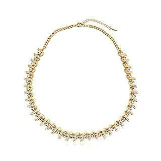 Daesar Schmuck Damenkette Vergoldet Multifunktionsleiste Synthetische Kristall Halskette Zirkonia Halskette Anhänger