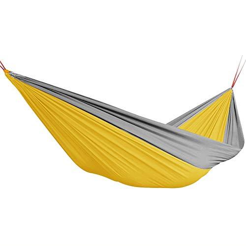 Yuany Camping-Hängematte - Leichte tragbare Nylon-Einzelhängematte, Beste Fallschirm-Hängematte für Rucksacktouren, Garten-Hängematte, Camping, Reise, Strand 270x140cm (Farbe: A) -