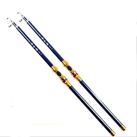 LXR Telescopic Portable Carbon Fiber Fishing Rod Saltwater Retractable Spinning Fishing Rod , 2.4m