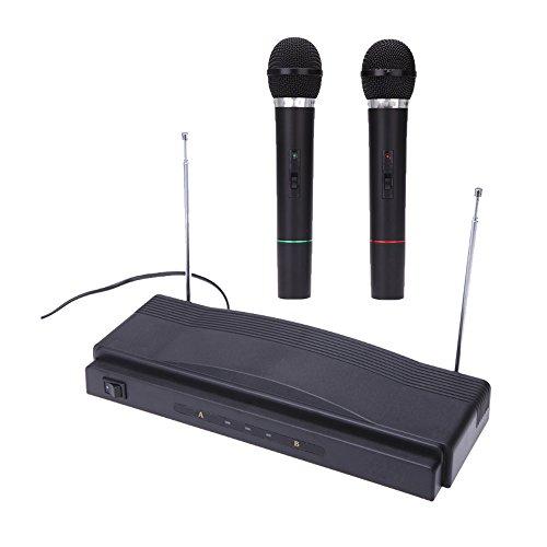 ammoon Mic Inalámbrico Sistema de Micrófono Remoto Estudio Equipo Tr