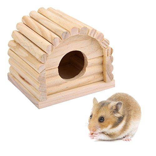 Bois Naturel Maison de Hamster Jouet Amovible Pour Gerbille Hamster Souris