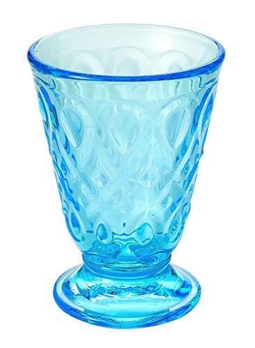 La Rochere - Glas, Trinkglas Lyonnais - Himmelblau, Bleu Azur - Volumen: 20 cl - Ø8 x H11,3 cm - 1 Stück - Bleu-glas