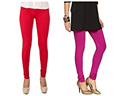 Roop Trading Co girls cotton material, churidar full length legging style, Magenta-red colour size available- XL,XXL,XXL