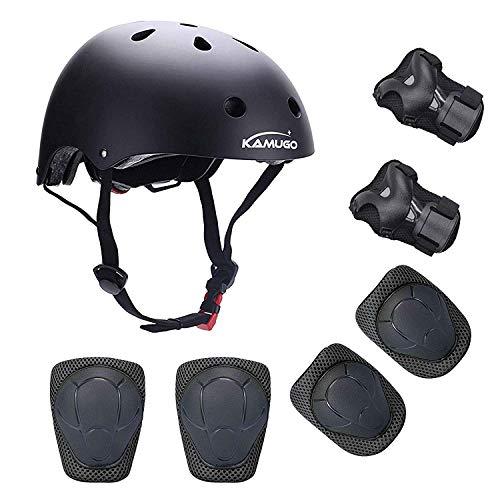 KUMUGO-Protezioni-per-bambini-Childs-Skateboard-Casco-Ginocchiere-Gomitiere-Protezioni-per-il-polso-per-BMX-Cycle-Roller-Skate-Scooter-3-8-anni-Bambini