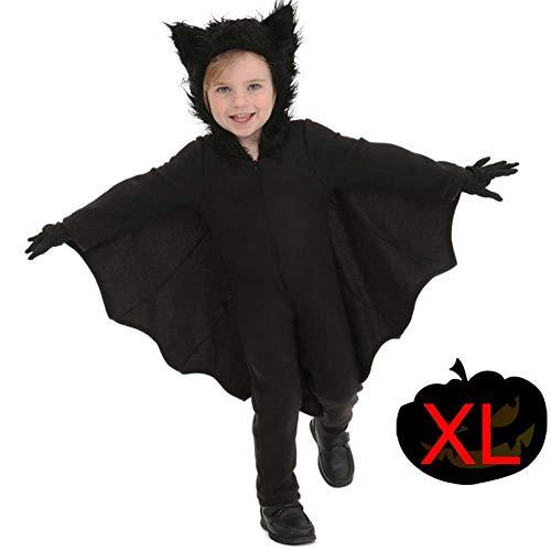 Halloween Fledermausflügel Vampirumhang Damen schwarz Vampir Cape Umhang -
