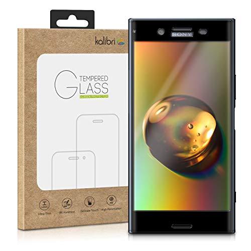 kalibri Sony Xperia XZ Premium Folie - 3D Glas Handy Schutzfolie für Sony Xperia XZ Premium - Auch für gewölbtes Bildschirm