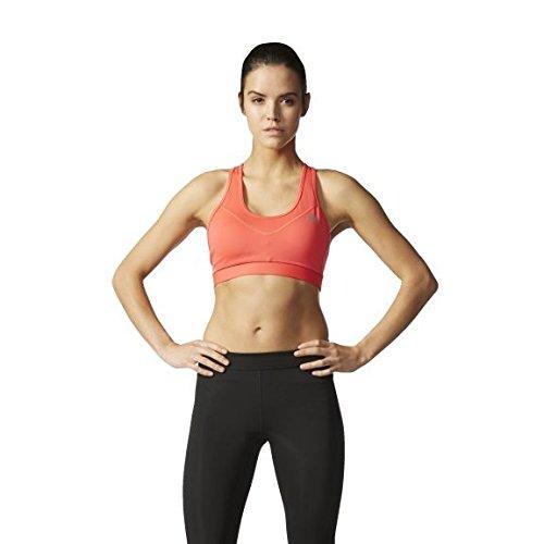 adidas Damen Techfit Padded Sport-Bh, Rot/Silber, S