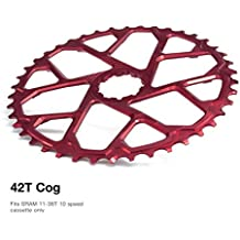 Garbaruk Piñón de dirección repuesto más 42d sram 10 V rojo (modificaciones ruedas dentadas)/Increased Spare Sprocket 42t sram 10s red (Spare Sprocket)