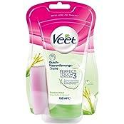 Veet Dusch-Haarentfernungs-Creme Trockene Haut, 1er Pack (1x150ml)