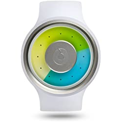Ziiiro Proton Milky White Kunstoff Acryl Edelstahl Uhr Neuartige Trend Watch