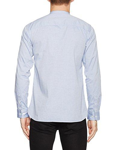 Jack & Jones Premium Jprkevin Mao Shirt L/S, Chemise Casual Homme Bleu (Cashmere Blue Fit:slim Fit)