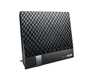 Asus RT-AC56U AC1200 Black Diamond Dual-Band WLAN Router (802.11 a/b/g/n/ac, Gigabit LAN/WAN, USB 3.0, Print FTP UPnP VPN Server, IPv6, SSID, AiRadar)