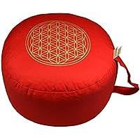 """Preisvergleich für Herbalind AZ6656 Yogakissen/Meditationskissen""""Blume des Lebens"""", rot"""