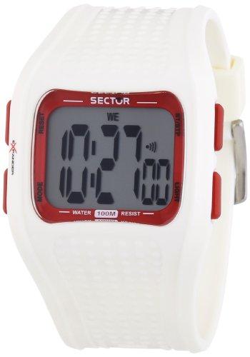 Sector Expander Street R3251172015 - Reloj unisex de cuarzo, correa de goma color blanco
