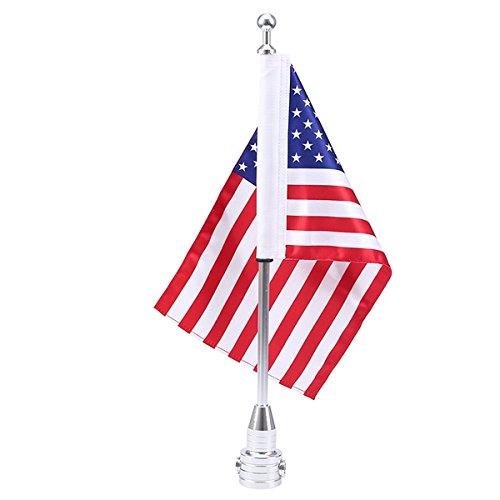 Preisvergleich Produktbild POSSBAY Motorrad Vereinigte Staaten Flagge USA Flag mit Fahnenmast für Harley Davidson Motorräder Gepäck