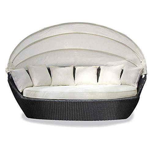 Tenzo-R 33925 Sonneninsel Garten Lounge Polyrattan mit Baldachin Sitzpolster und 6 Kissen