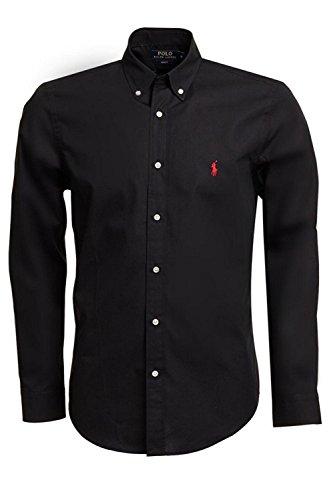 Ralph Lauren camicia da uomo Slim Fit a maniche lunghe nero M