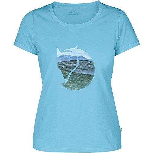 Fjällräven Damen Watercolour Fox W Blusen & T-Shirts Bluebird