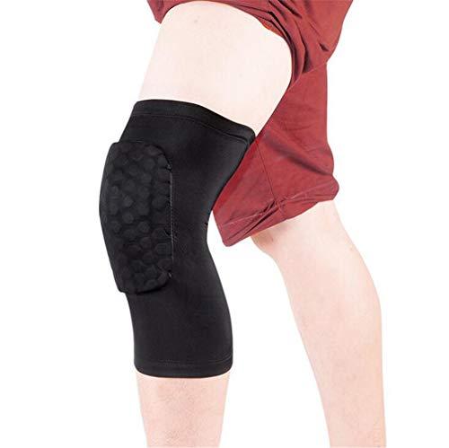 DROHE-Q Soporte para Las Rodillas Hombres Mujer Antideslizante Abrazadera Super Elástica Respirable Mangas Alivio del Dolor Artritis Lesión Deportes (Soltero)