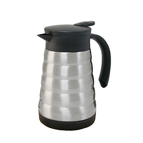 QFFL Edelstahl-große Kapazitäts-antibakterielle Isolierungs-Topf- / Haushalts-Kaffeekanne / auslaufsichere Wärmflasche 600 ml / 800 Ml Thermosflasche ( Farbe : Silber , größe : 18cm )
