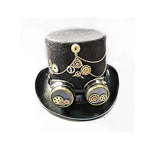 Steam-Punk-Gothic-Mütze, Vintage-Stil, Fedora-Hut