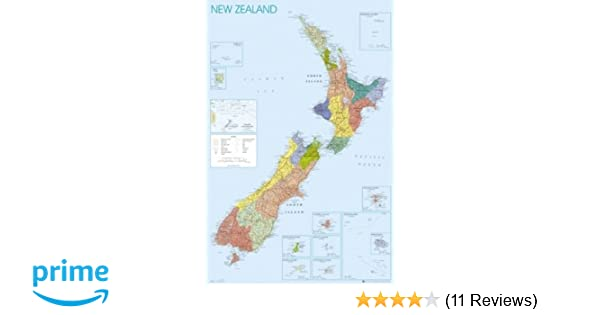 New Zealand Map Of The World.Map Of New Zealand 61x91 5cm