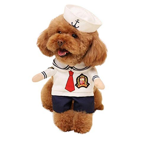 Us Mädchen Marine Kostüm - NACOCO Hundekostüm, Marineblau, für Halloween, für Welpen und Katzen