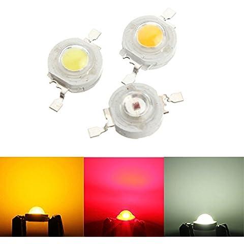 Bazaar Ad alta potenza 1W LED circuito integrato della lampada luce Fai da te Bead rosso bianco giallo