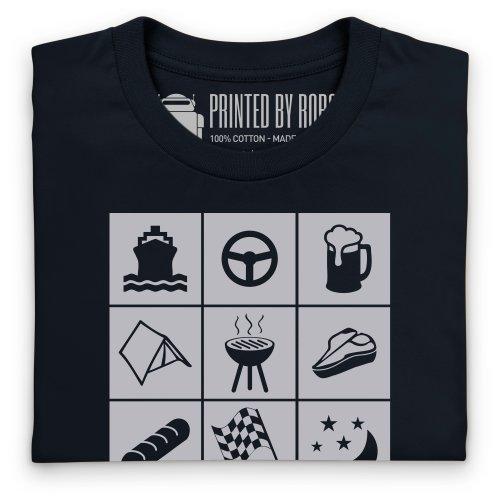 PistonHeads PHLM13 Symbols T-Shirt, Herren Schwarz