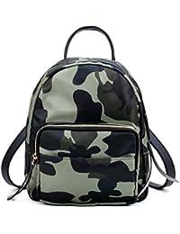 Cyjlwj Mini mochila de nylon pequeña bolsa nueva lona mochila camuflaje mochila