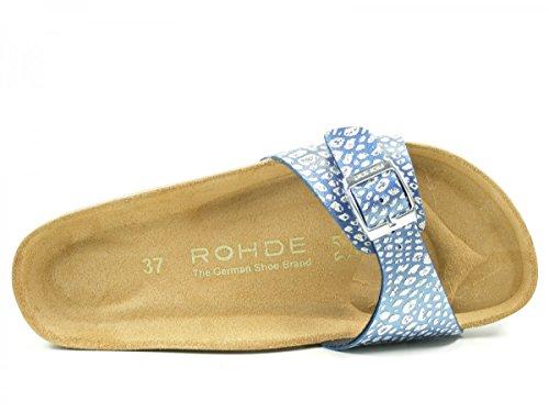 Rohde Alba, Mules Femme Blau