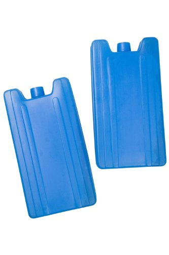 Mountain Warehouse Ice Pack - 17cm X 8.8cm X 3.5cm Reuseable Ice Bag, 2 Per Packet Cold Pack, Ready to Use Cold Compress - For Use with insulated Cool Bags & Chilly Bins Blue