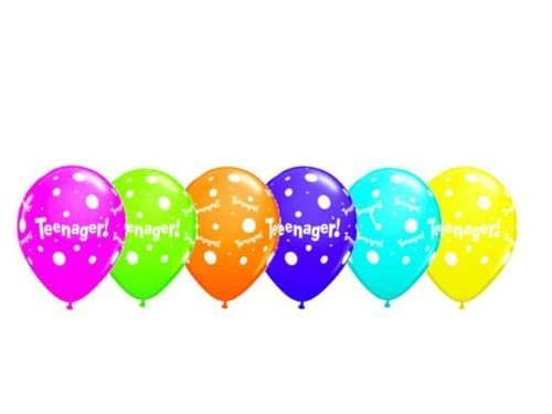 Age 13/13th Birthday Teenager! Tropical Assorted Qualatex 11 Latex Balloons x 5 by Qualatex (Birthday Party 13th)