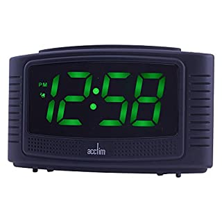 Acctim Vian Crecendo Alarm Clock Black - 14723