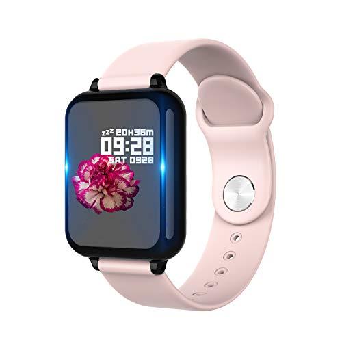 Montre Connectée Smartwatch Femmes Homme Fitness Tracker d'Activité Étanche IP67 Bracelet Connecté Moniteur de Sommeil Podomètre Cardiofréquencemètre pour Android iOS Samsung Sony Huawei Xiaomi(Rose)