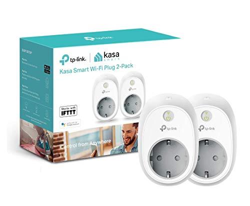 TP-Link - Enchufe Inteligente para controlar Sus Dispositivos Desde Cualquier Lugar, sin Necesidad de concentrador, Funciona con Amazon Alexa y Google Home e IFTTT (HS100)(2 Pack)