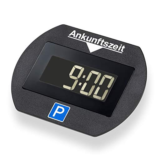 Park Lite 4251511945939 Needit elektronische Parkscheibe Digitale Parkuhr schwarz mit offizieller Zulassung vom KBA