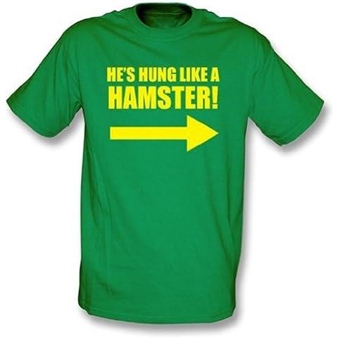 Hung Like una camiseta del hámster Xx-Grande, color Kelly Green