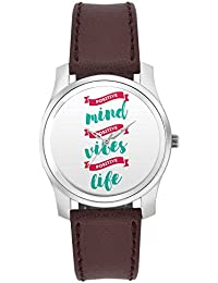 BigOwl Positive Minds Positive Vibes Positive Life Fashion Watches For Girls - Awesome Gift For Daughter/Sister...