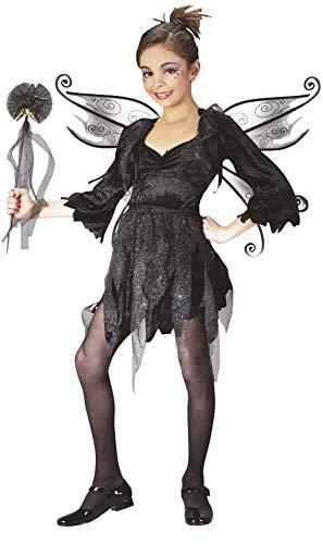 Fee Kostüm Mitternacht - Horror-Shop Märchenhafte Mitternachts Fee Kinderkostüm Gr. S